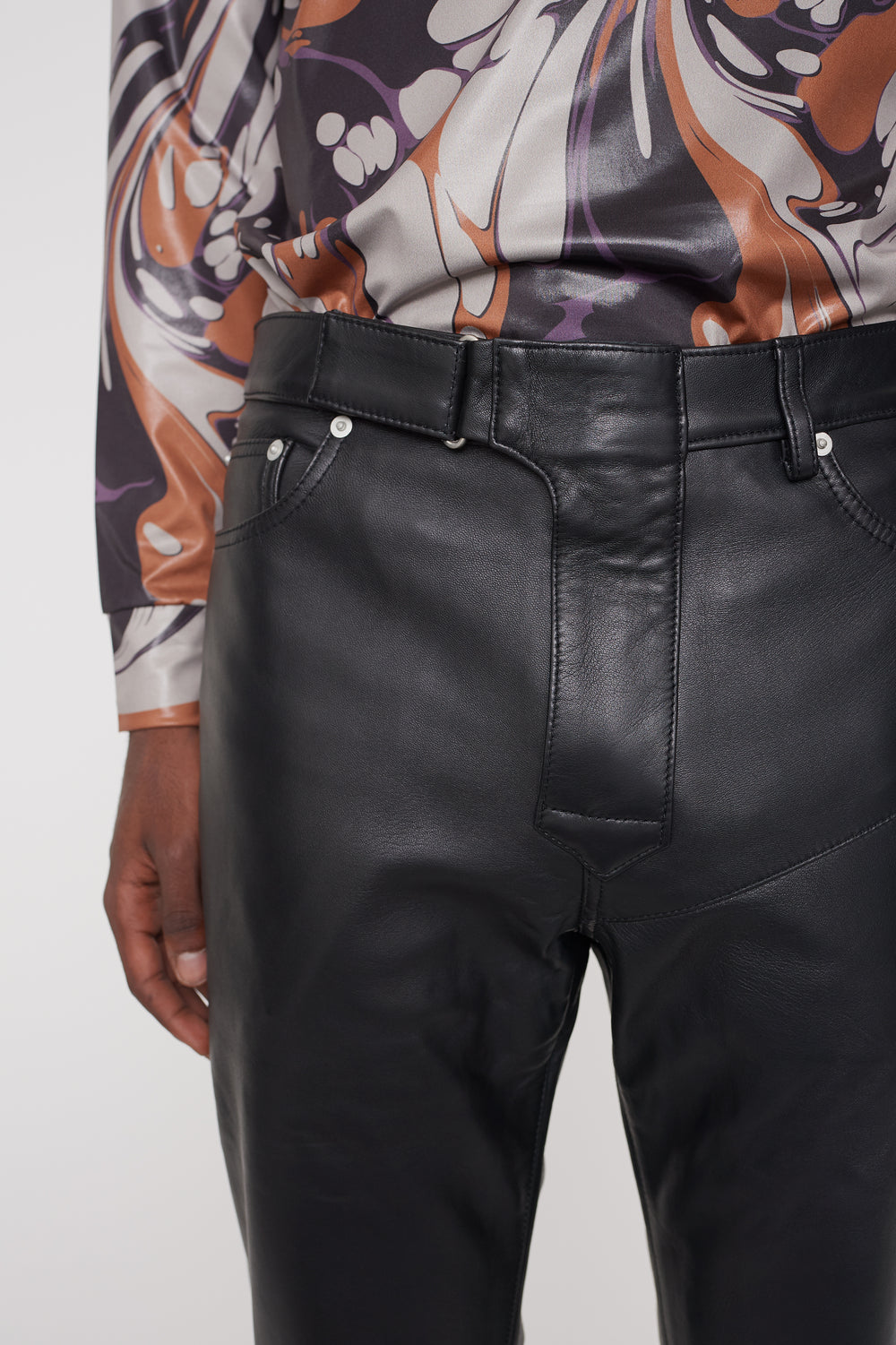 Luke leather trousers black