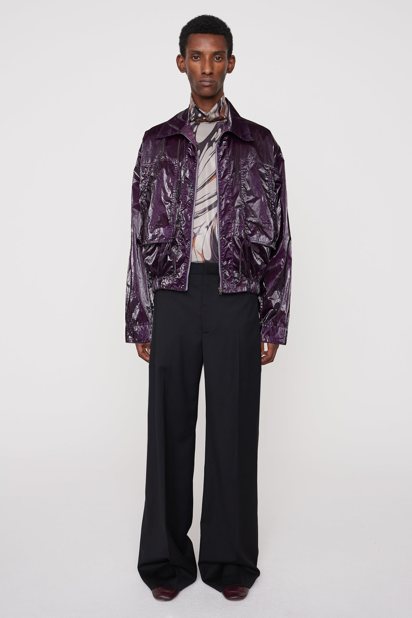 Sami technical blouson purple