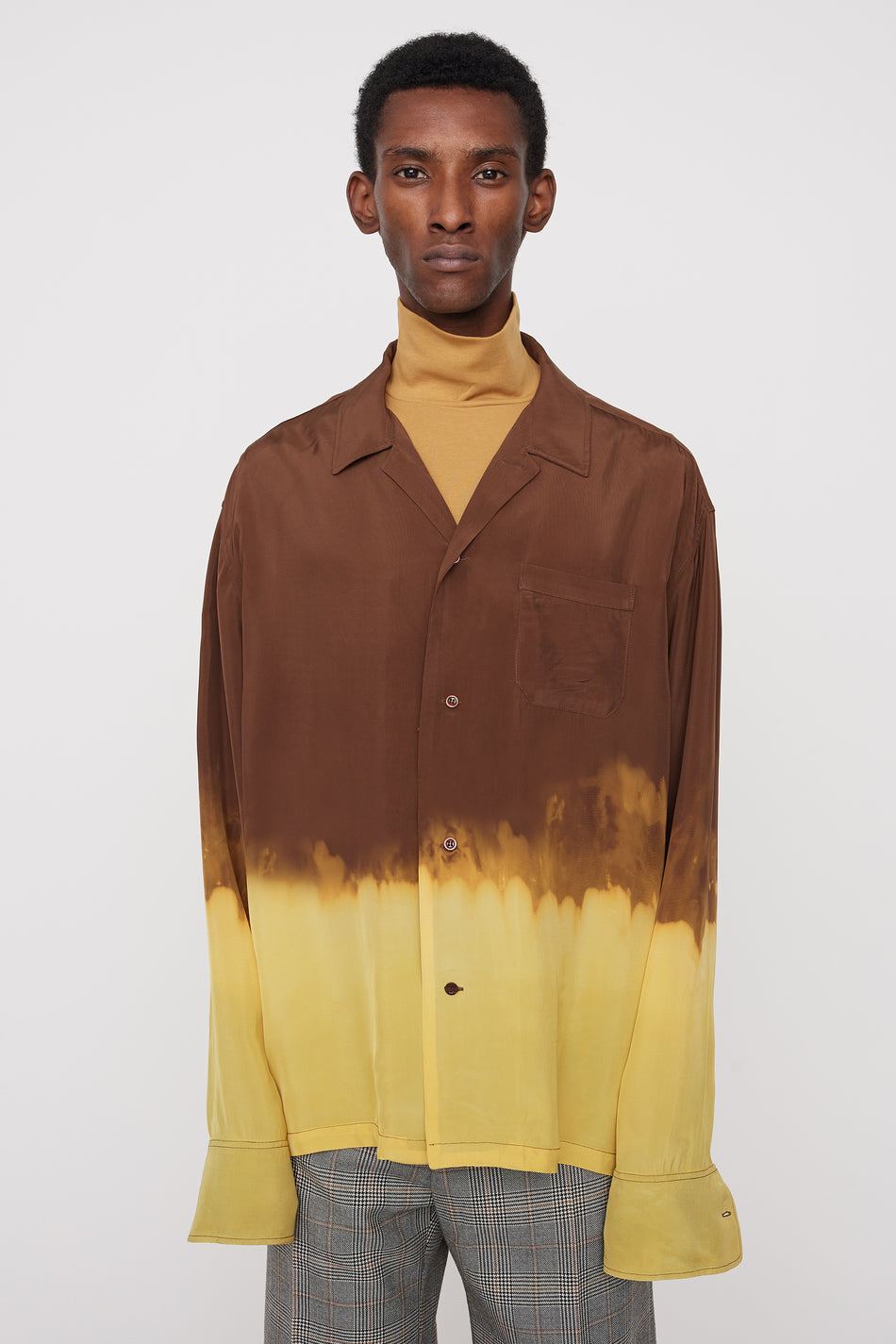 Ario bleached shirt brown/yellow