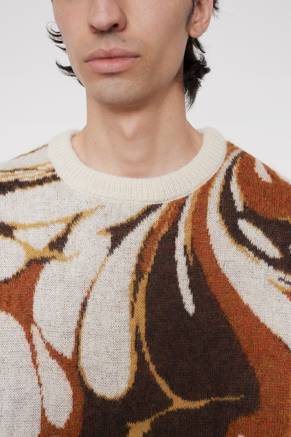 Xander mohair sweater brown marble