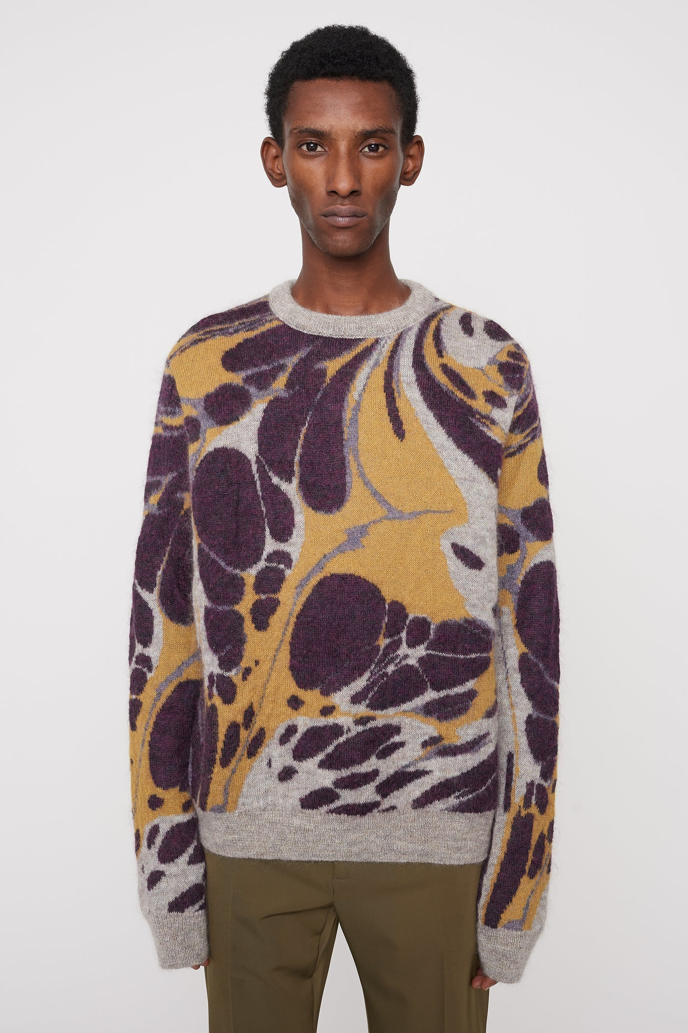 Xander mohair sweater purple marble