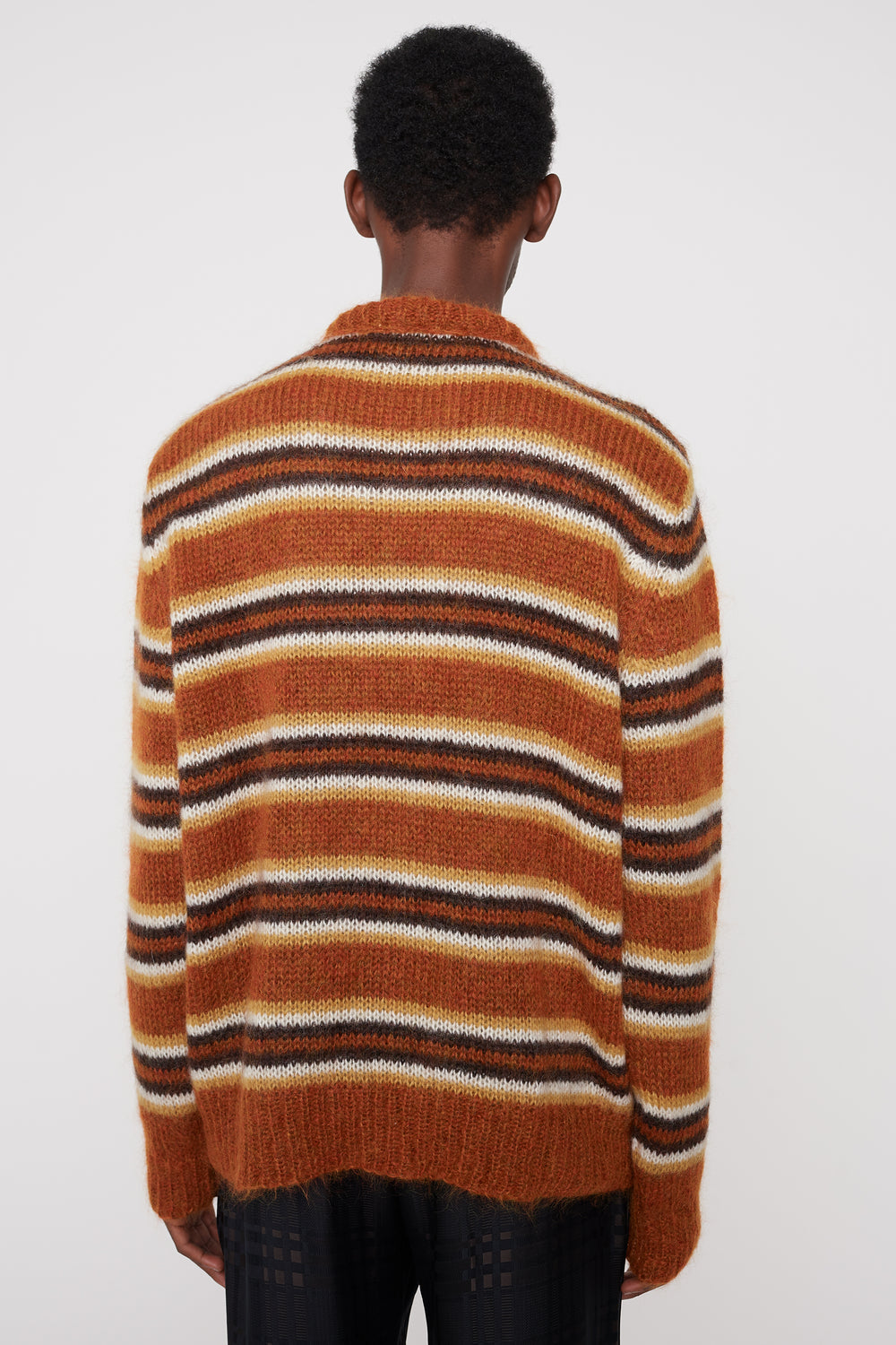 Sigge striped sweater brown