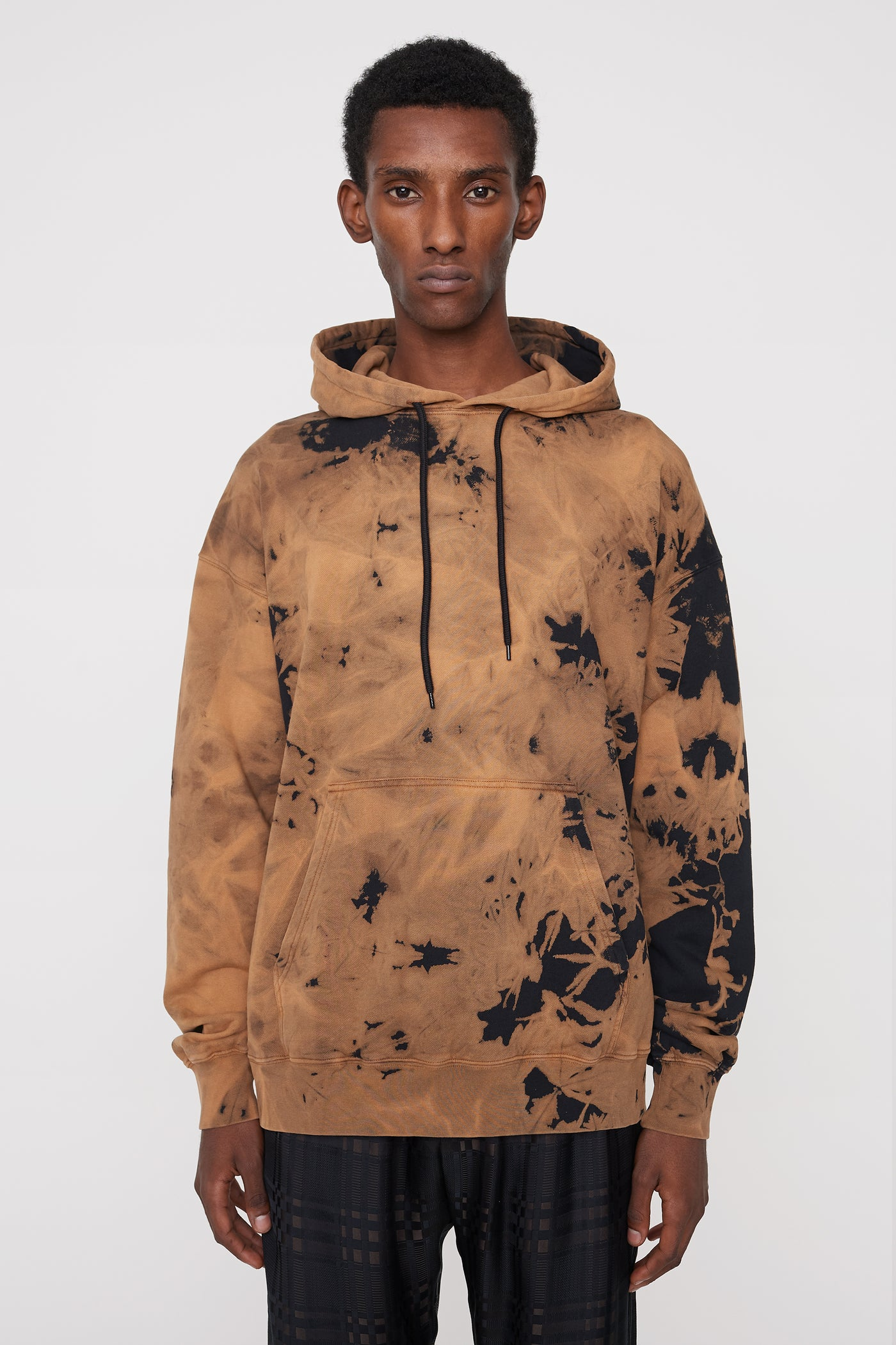 Shawn bleach hoodie brown/black
