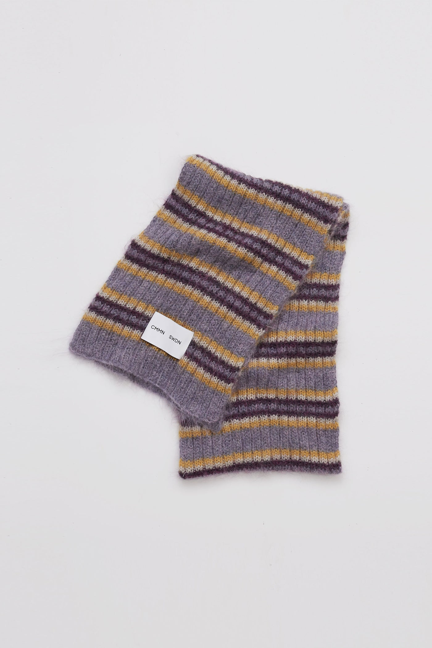 Noa mohair scarf purple stripe