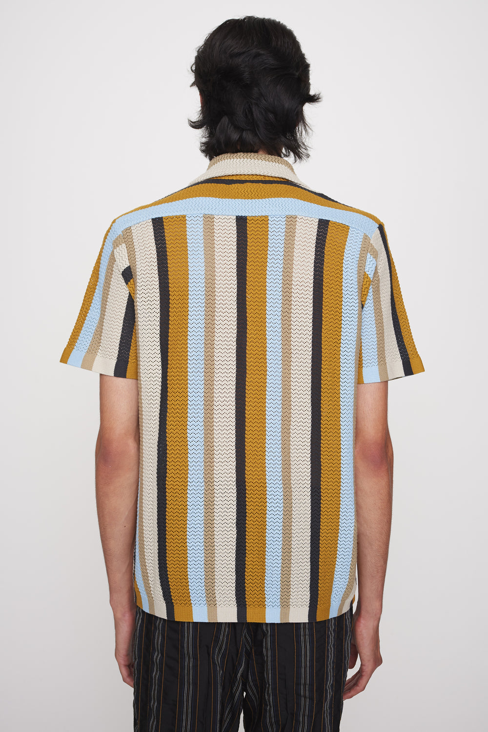 Wes knitted shirt multistripe