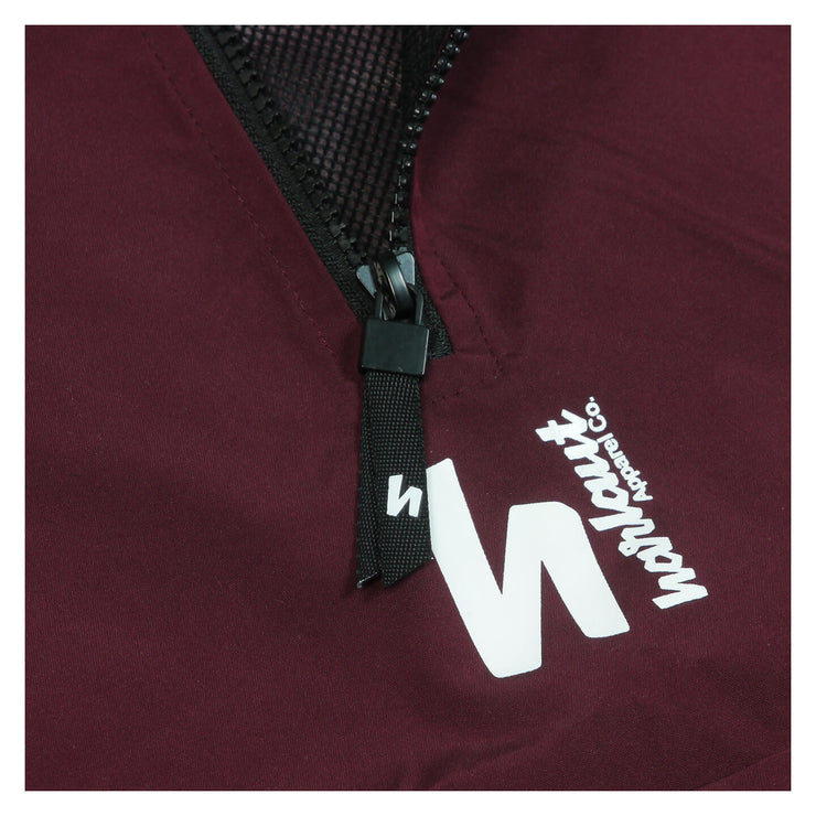 1/4 ZIP HOUND JACKET - WINE RED