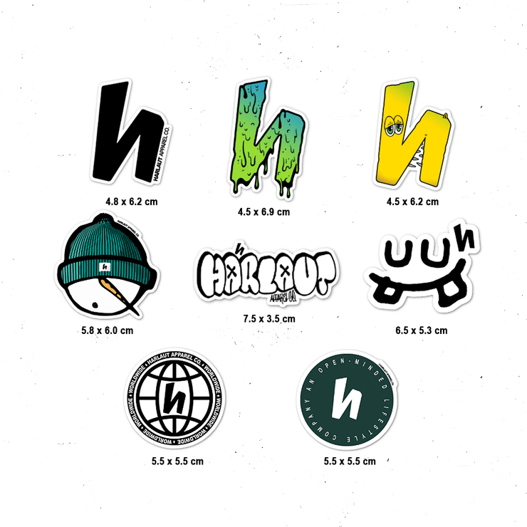 FALL 19' STICKER PACK - 8 PACK