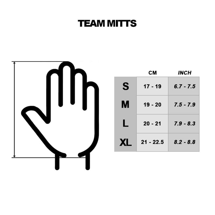 TEAM MITTS - WHITE