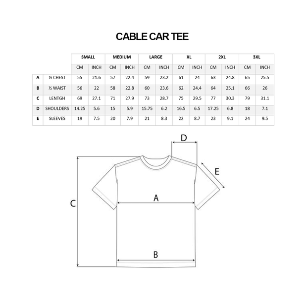 Cable Car Tee - White
