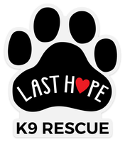 LHK9 Paw Print Logo Clear Sticker Decal