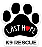 *3 for $5* LHK9 Paw Print Logo Small Vinyl Sticker