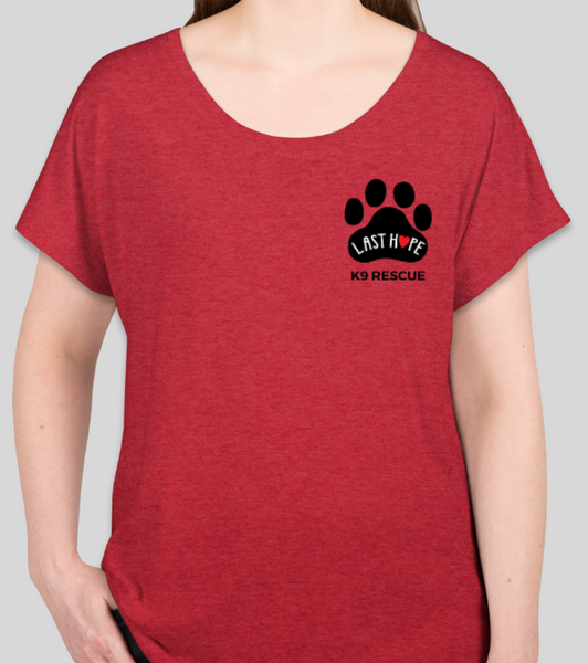 Women's Short Sleeve Dolman LHK9 Logo T-Shirt (Available in Teal or Red)
