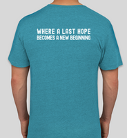 Short Sleeve V-Neck LHK9 Logo T-Shirt (Available in Teal or Red)