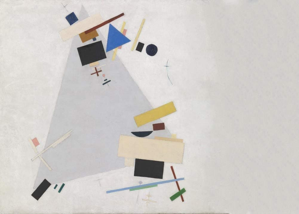 Kazimir Malevich 'Dynamic Suprematism', Russia, 1915, Reproduction 200gsm A3 Vintage Classic Suprematism Poster