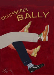 Vintage Clothes and Accessories 'Bally Shoes', France, 1930's, Leonetto Cappiello, Reproduction 200gsm A3 Vintage Art Deco Poster