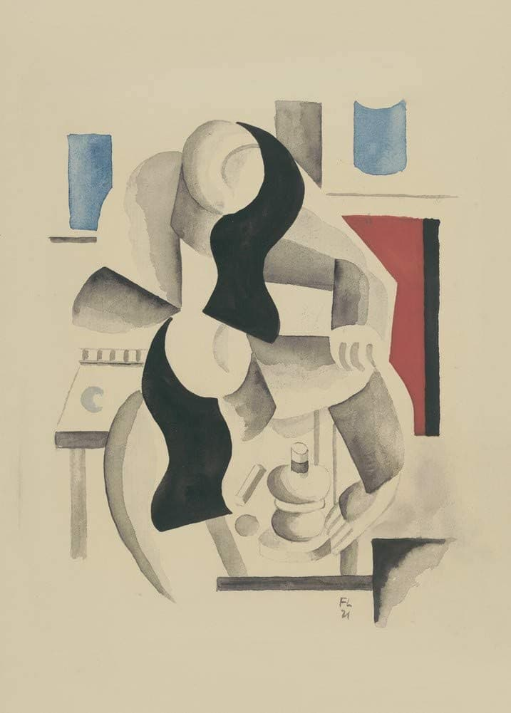 Fernand Leger 'Two Women', France, 1921, Reproduction 200gsm A3 Vintage Classic Art Poster
