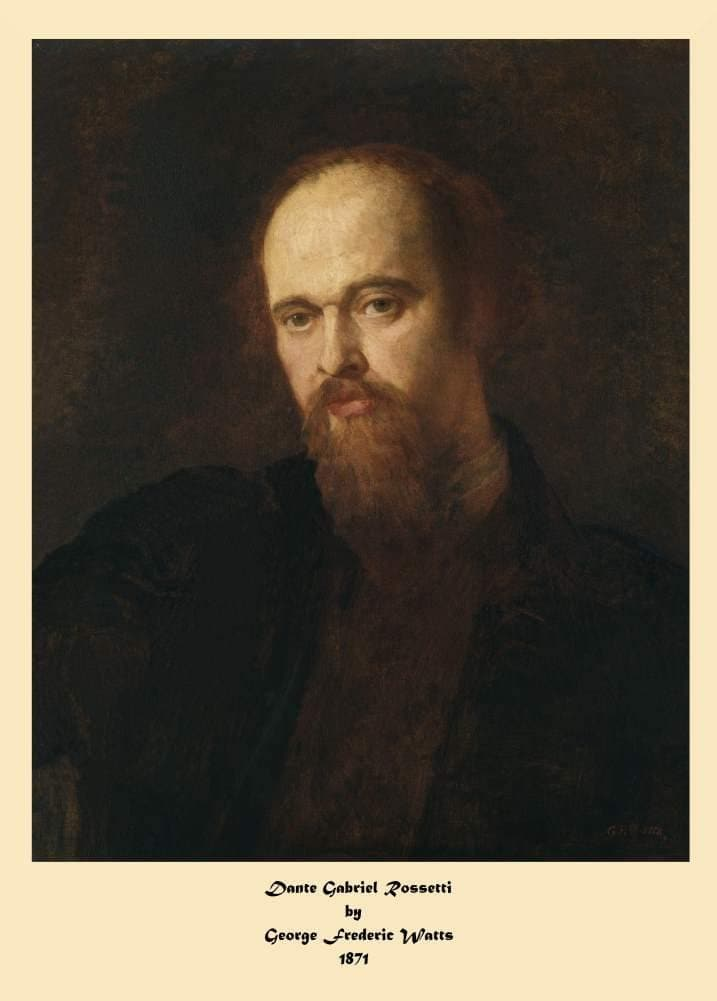 Dante Gabriel Rossetti 'A Portrait of Dante Gabriel Rossetti', by George Frederic Watts, 1871, Reproduction 200gsm A3 Vintage Classic Art Poster