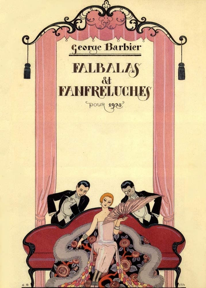 George Barbier 'Falbas and Fanfreluches', France, 1925, Reproduction 200gsm A3 Vintage Classic Art Deco Poster