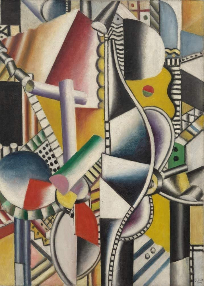 Fernand Leger 'Propellers, Detail', France, 1918, Reproduction 200gsm A3 Vintage Classic Art Poster