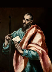 El Greco 'Apostle Saint Paul', 1610-1614, Spain, Reproduction 200gsm A3 Classic Art Poster
