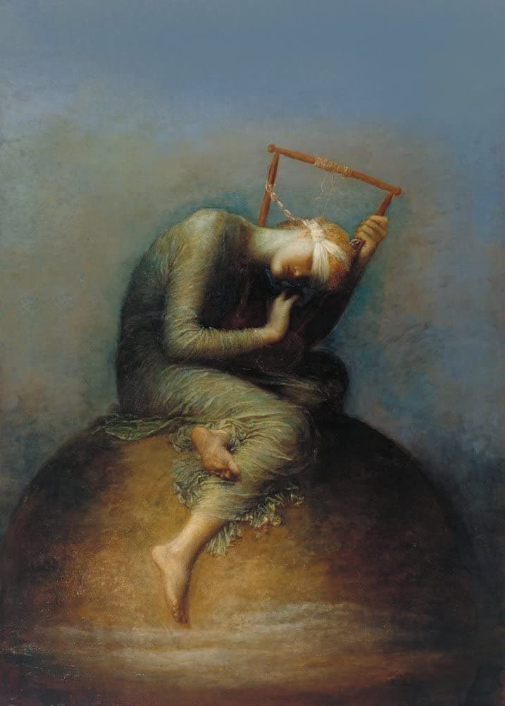 George Frederic Watts and Assistants 'Hope', England, 1886, Reproduction 200gsm A3 Vintage Classic Art Poster