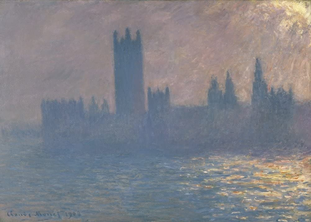 Claude Monet 'Houses of Parliament, Sunlight Effect', France, 1903, Impressionism, Reproduction 200gsm A3 Vintage Classic Art Poster