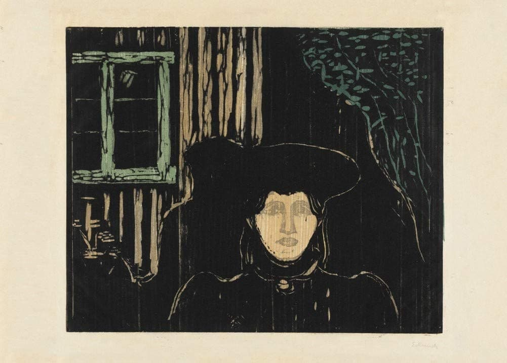 Edvard Munch 'Moonlight', Norway, 1896, Reproduction 200gsm A3 Vintage Classic Art Poster