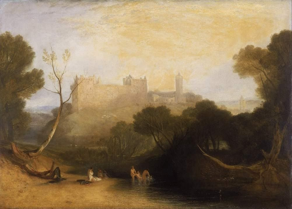 J.M.W Turner 'Linlithgow Palace', England, 1806, Reproduction Vintage 200gsm A3 Classic Art Poster