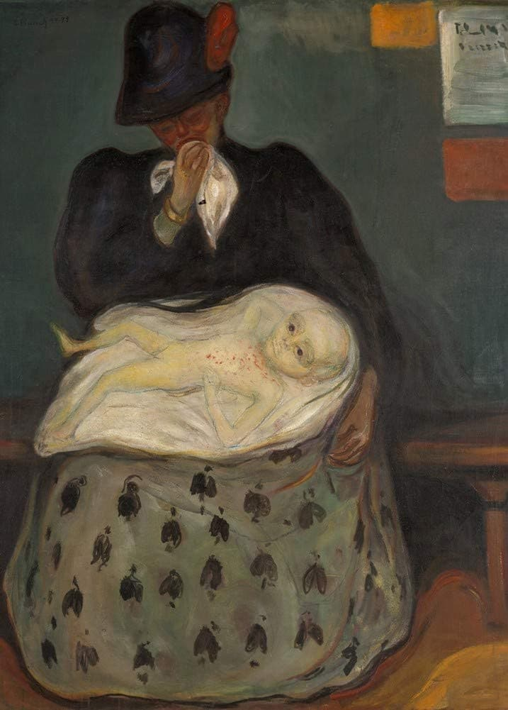 Edvard Munch 'Inheritance, Detail', Norway, 1897-99, Reproduction 200gsm A3 Vintage Classic Art Poster