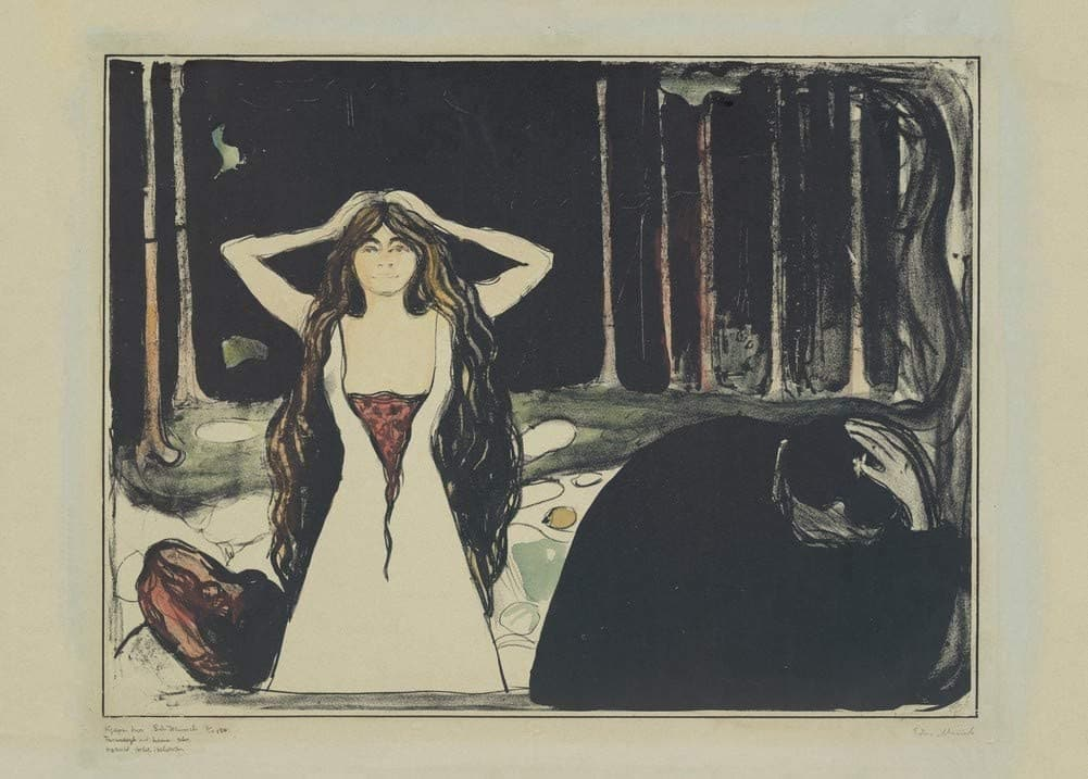 Edvard Munch 'Ashes', Norway, 1899, Reproduction 200gsm A3 Vintage Classic Art Poster