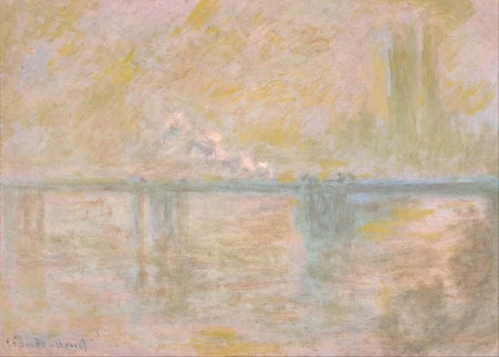 Claude Monet 'Charing-Cross Bridge in London', France, 1902, Impressionism, Reproduction 200gsm A3 Vintage Classic Art Poster
