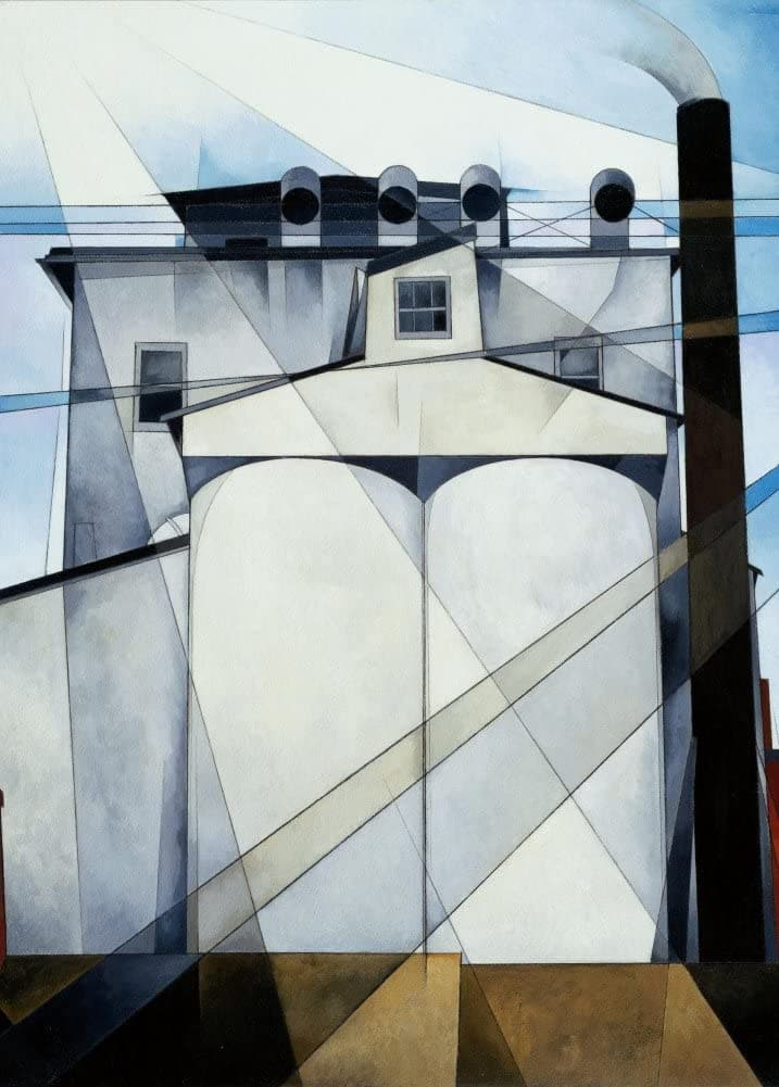 Charles Demuth 'My Egypt, Detail', U.S.A, 1927, Cubism Avant Garde, Reproduction 200gsm A3 Vintage Classic Art Poster