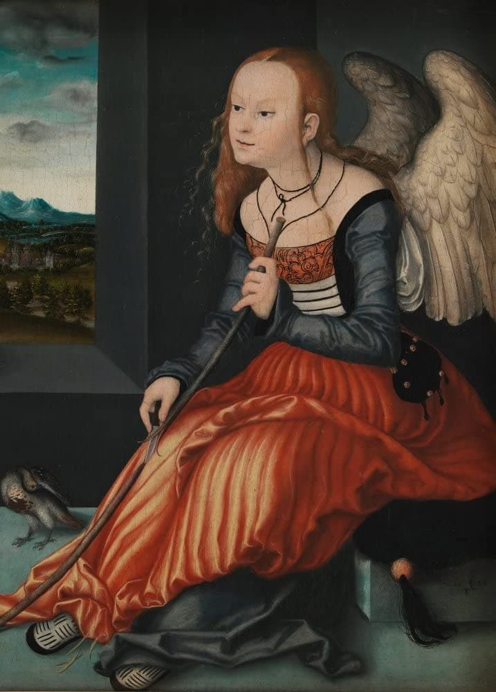 Lucas Cranach The Elder 'Melancholy, Further Detail', 1500's, Germany, Reproduction 200gsm A3 Vintage Classic Art Poster