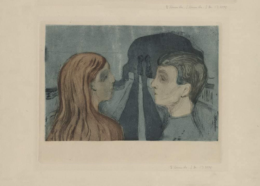 Edvard Munch 'Attraction', Norway, 1895, Reproduction 200gsm A3 Vintage Classic Art Poster