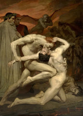 William-Adolphe Bouguereau 'Dante and Virgile, Detail', France, 1850, Reproduction 200gsm A3 Vintage Art Poster