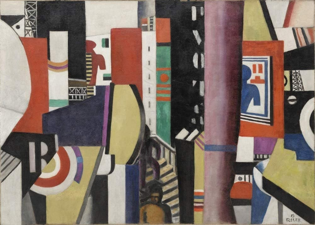 Fernand Leger 'The City', France, 1919, Reproduction 200gsm A3 Vintage Classic Art Poster