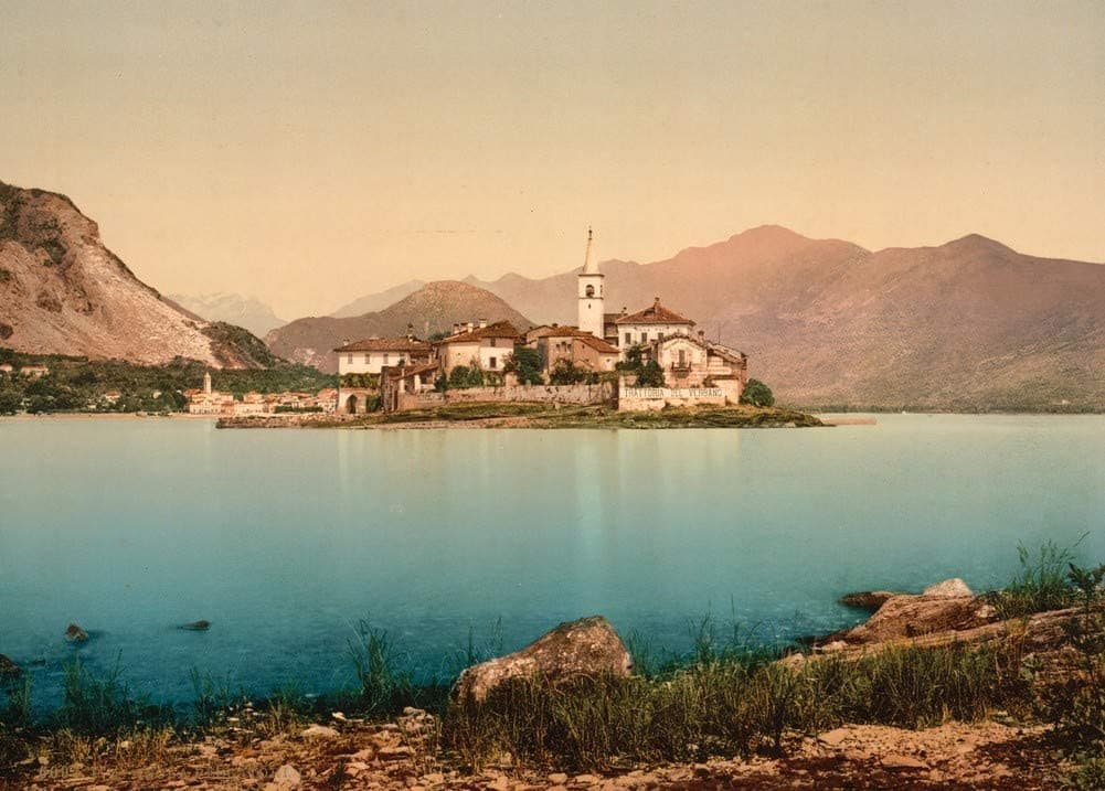 Vintage Travel Italy 'Isola Pescatori I, Lake Maggiore', Circa. 1890-1910, Reproduction 200gsm A3 Vintage Travel Photography Poster