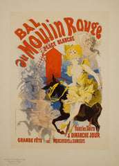 Jules Cheret 'Bal au Moulin Rouge', France, 1890's, Reproduction 200gsm A3 Vintage Classic Art Nouveau Poster