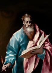 El Greco 'Apostle Saint Matthew', 1610-1614, Spain, Reproduction 200gsm A3 Classic Art Poster
