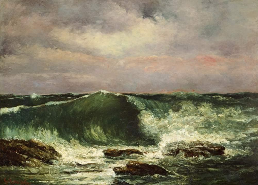 Gustave Courbet 'Waves', France, 1870, Reproduction 200gsm A3 Vintage Classic Art Poster