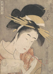 Kitagawa Utamaro 'Hanamurasaki of The Tamaya', Japan, 1790, Reproduction 200gsm A3 Vintage Classic Ukiyo-e Art Poster