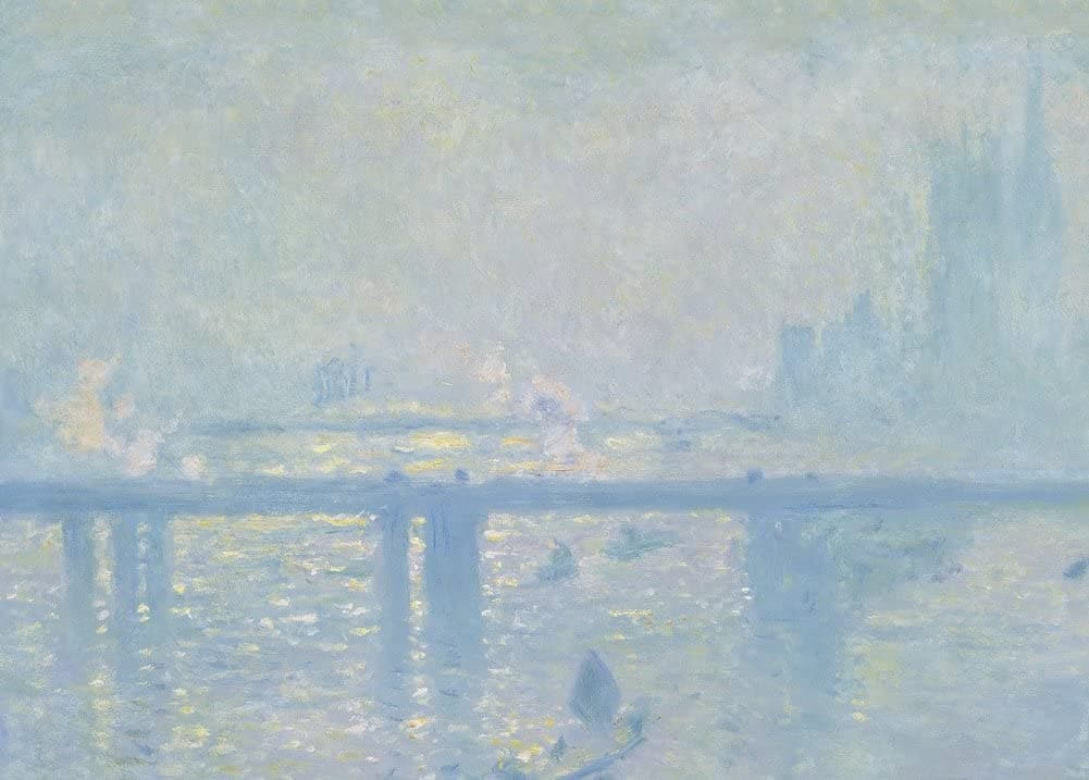 Claude Monet 'Charing Cross Bridge, Detail', France, 1899, Impressionism, Reproduction 200gsm A3 Vintage Classic Art Poster