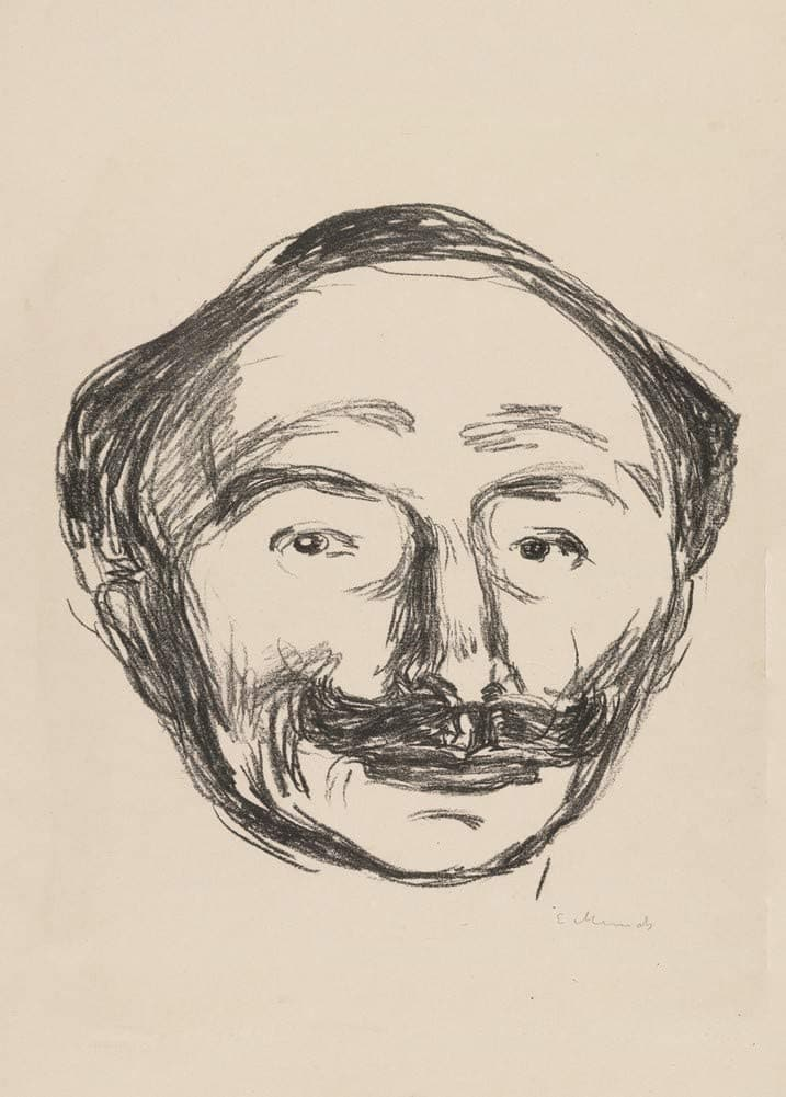 Edvard Munch 'Portrait of Goldstein', Norway, 1908, Reproduction 200gsm A3 Vintage Classic Art Poster