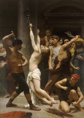 William-Adolphe Bouguereau 'The Flagellation of Our Lord Jesus Christ', France, 1880, Reproduction 200gsm A3 Vintage Art Poster