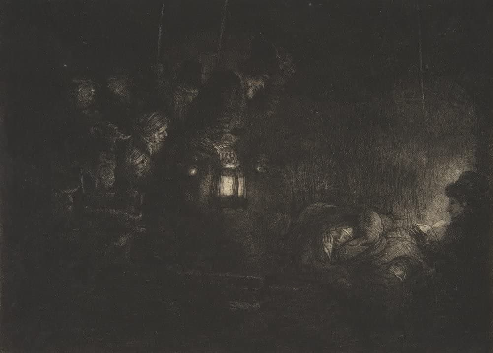 Rembrandt 'Adoration of The Shepherds, A Night Piece', Netherlands, 1652, Reproduction 200gsm A3 Vintage Classic Art Poster