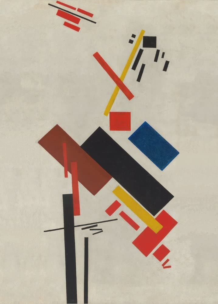 Kazimir Malevich 'House Under Construction', 1915-16, Reproduction 200gsm A3 Vintage Classic Suprematism Poster