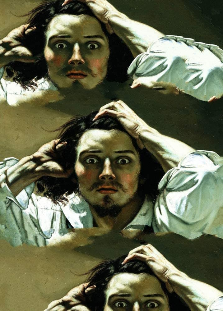 Gustave Courbet 'Self-Portrait Desperate Man', France, 1841, Reproduction 200gsm A3 Vintage Classic Art Poster