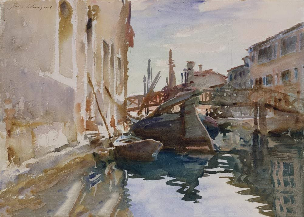 John Singer Sargent 'Giudecca', U.S.A, 1913, Reproduction 200gsm A3 Vintage Classic Art Poster