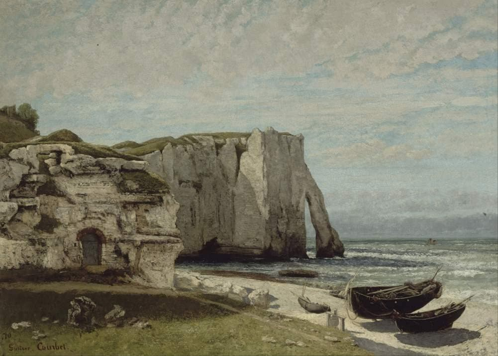 Gustave Courbet 'The Etretat Cliffs After The Storm', France, 1870, Reproduction 200gsm A3 Vintage Classic Art Poster