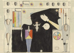 Oskar Schlemmer 'Das Figural Cabinet', Germany, 1922, Reproduction 200gsm A3 Classic Vintage Bauhaus Poster